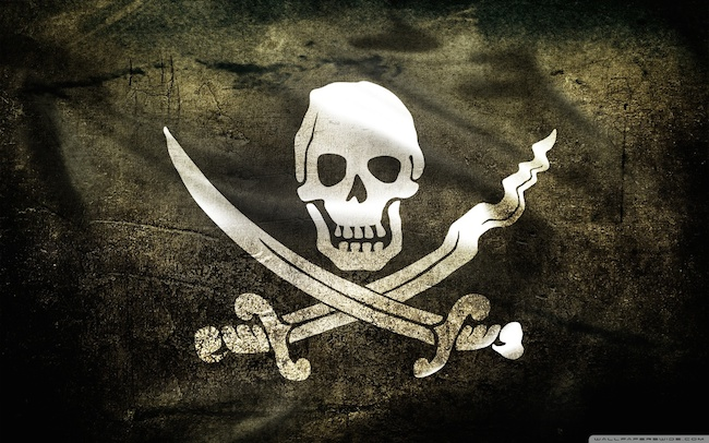 Pirate flag 2 wallpaper 1280x800