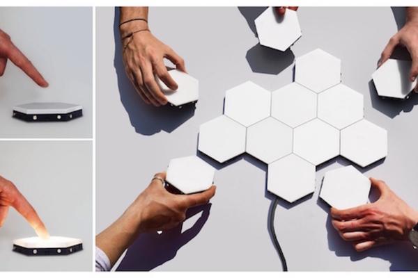模組式磁吸觸控壁燈 Helios,開關燈就像遊戲般的有趣