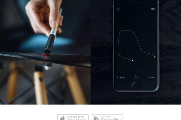 一筆劃過去就知道尺寸,還能自動繪製 3D 圖的「01」智慧測量筆