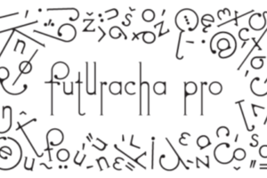 絕對不只百變!個性超級鮮明又有時尚潛力的 Futuracha Pro 字型