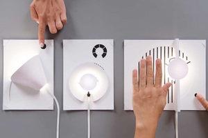 不用再請男友幫忙了!3 步驟就能將一張紙輕鬆變檯燈的導電漆燈罩模組