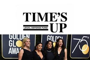 金球獎眾星齊「黑」!終結職場性騷擾,《TIME'S UP》集資計畫陪你勇敢說不