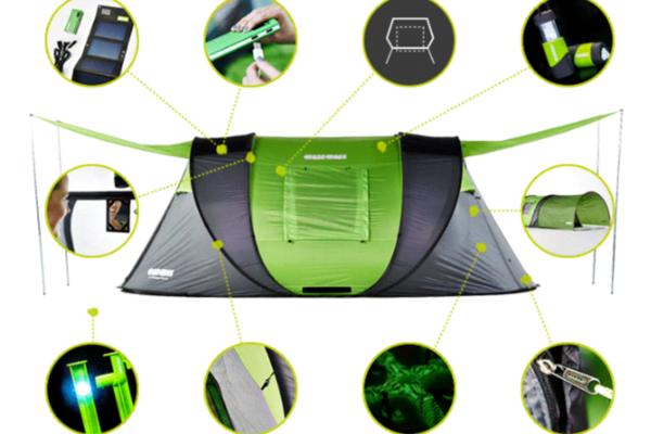 露營神器:彈出式太陽能帳篷 Cinch!,隔熱、加大都EASY